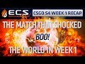 The match that shocked the world (ECS CSGO S4 Week What Happened?)