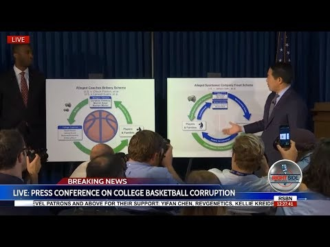 Full Press Conference on NCAA/College Basketball Coaches Charged with Fraud/Corruption 9/26/17