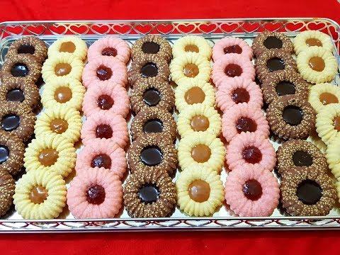 جديد حلوى جافة بالفلان تذوب في الفم ببيضتين فقط و كمية وفيرة ب 3 نكهات