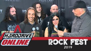 Lacuna Coil - Lou Brutus talks with Lacuna Coil at Rock Fest 2019 | HardDrive Online