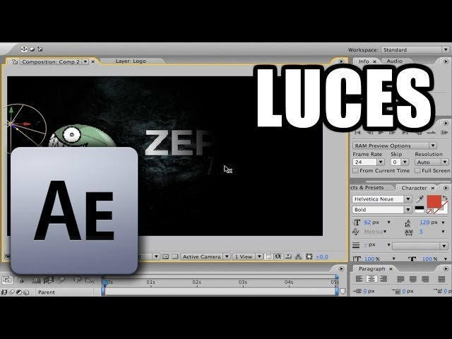 After Effects - #12: Luces Travel Video