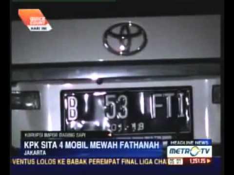 KPK Sita Empat Mobil Mewah Milik Ahmad Fathanah