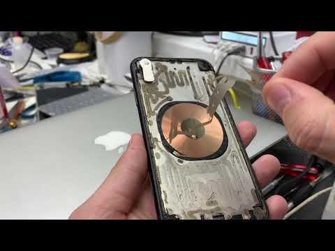 Ковыряем iPhone XR ножом - что бы снять стекло под замену!