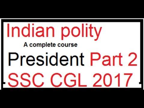 ssc cgl job assure tier 1 : Indian polity I president part 2 I Hindi medium