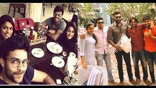 Mega Family in Dinner Party Chiranjeevi khaidi No 150| Ram Charan | Varun Tej | Allu Arjun