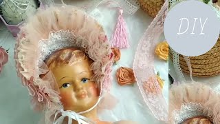 dIY. Шьем французскую шляпку для антикварной куклы