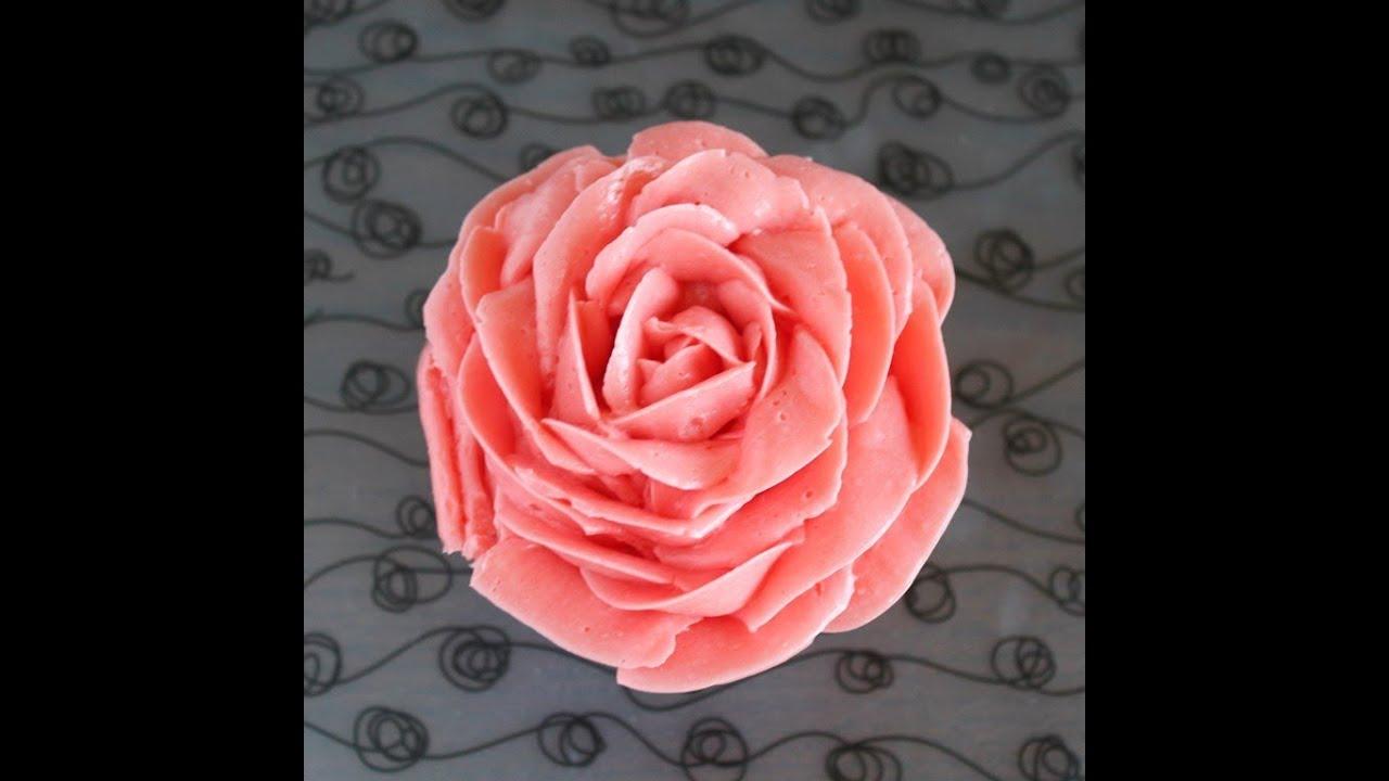 C 243 Mo Hacer Una Rosa De Buttercream O Merengue Youtube