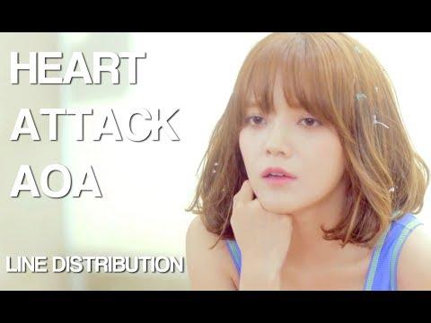 AOA - Heart Attack (Line Distribution)