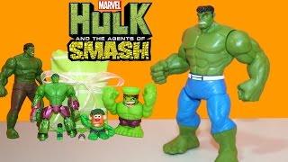 Hulk And The Agents Of S.m.a.s.h. Fist Smashin Hulk + Can Heads Super Hero Mashers Potato Head Hulks