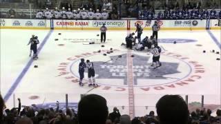 Maple Leafs and Sabres Line Brawl 9/22/2013. Kessel Clarkson Scott Bernier Miller