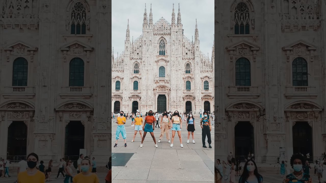 #BTS #PermissionToDance challenge by Italian ARMYs in Milan 💜💃 #Shorts