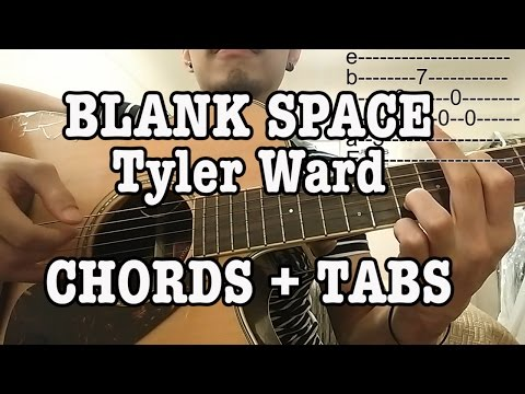 Taylor Swift - Blank Space (Tyler Ward) Guitar Lesson with TABS