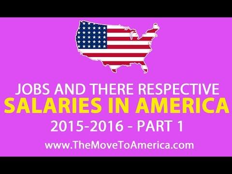 JOBS AND THERE RESPECTIVE AVERAGE SALARIES AROUND AMERICA 2015 2016