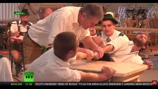 WATCH: Bavaria hosts bizarre finger wrestling championship