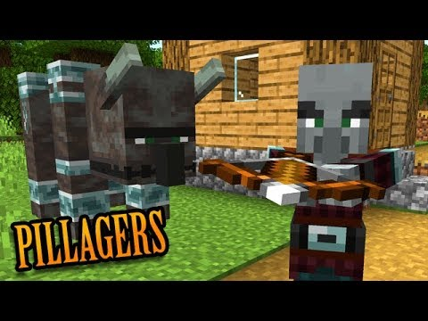 Minecraft: Pillagers and THE BEAST