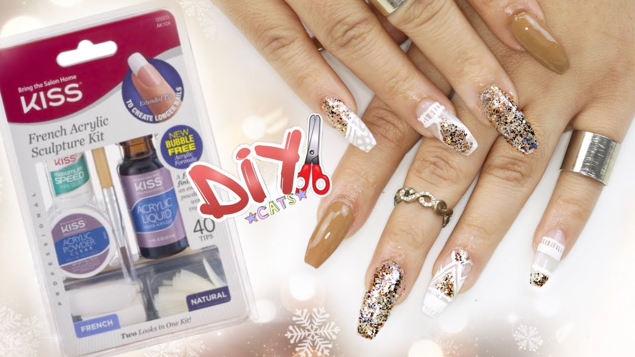 DIY KISS Acrylic Nail Kit - COFFIN NAILS STEP BY STEP - YouTube
