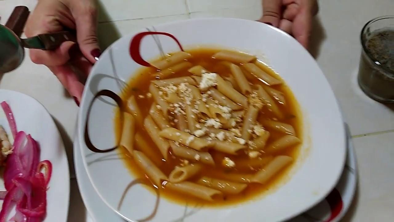 Sopa De Macarrones Con Tomate