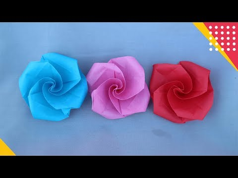 ORIGAMI FLOWER - CARA MEMBUAT BUNGA ORIGAMI PALING MUDAH - DIY & easy tutorial