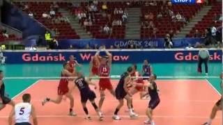 сборная России по волейболу против сборной США.норм!