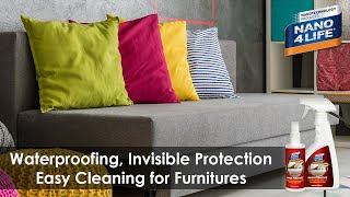 Invisible, Water Repellent Furniture Protection | Against water and stains | by NANO4LIFE