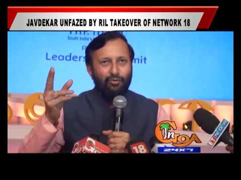 JAVEDEKAR UNFAZED BY RIL TAKEOVER OF NETWORK 18