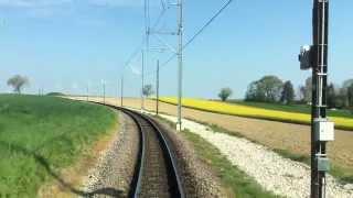 【フランス・スイス】 バーゼル市電で国境越え 後方展望 In tram of Basel from France to Switzerland (2014.4)