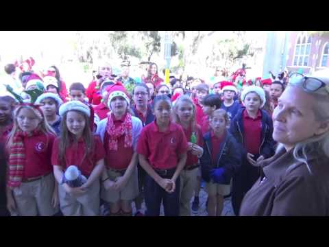 First United Methodist School Caroling 12 16 2016