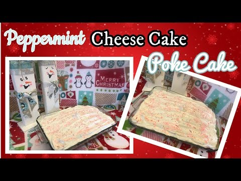 Candy Cane Cheese Cake Poke Cake | Christmas Dessert