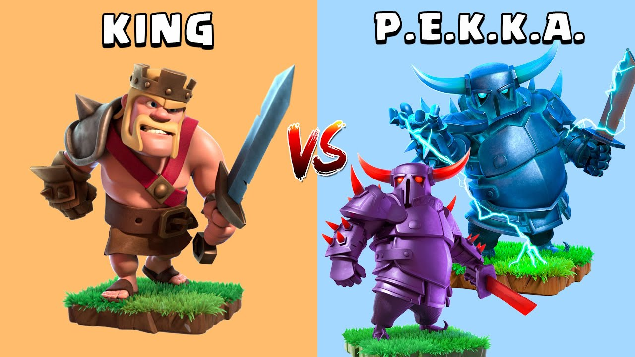 Is PEKKA still the STRONGEST?? Pekka vs Barbarian King Clash of Clans Gameplay