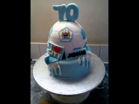 Manchester City Cake in the making ZiVa cakes YouTube