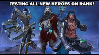 Testing  ALL new HEROES MOBILE LEGENDS || ROAD TO 300k!!!