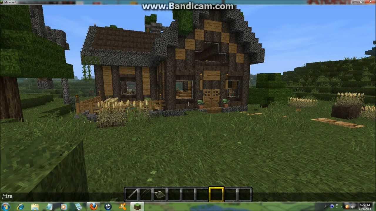 Minecraft Log Cabin ~ Minecraft medieval log cabin youtube