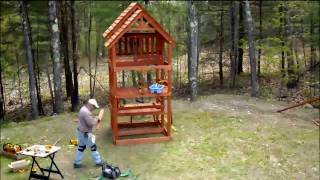 Highlander swing set installation