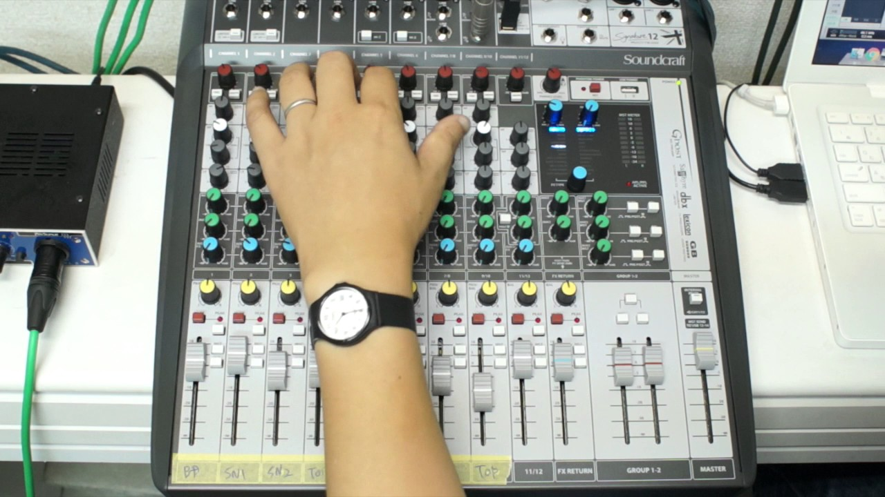 Soundcraft Signature 12 MTK Drum Recording & Mixing test ...