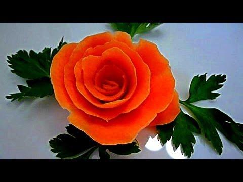 Как сделать из моркови розы