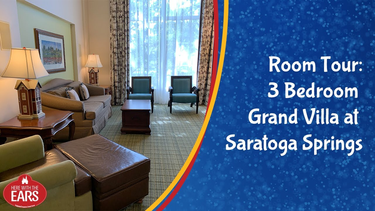 Full Room Tour Of The Non Remodeled 3 Bedroom Grand Villa At Disney S Saratoga Springs Resort Youtube