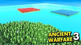 ZOMBIE ISLAND VS RED AND BLUE! (Ancient Warfare 3 Funny Gameplay)