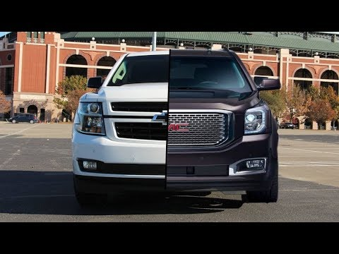 Chevy Tahoe Vs Gmc Yukon >> 2018 Chevrolet Tahoe Rst Vs 2018 Gmc Yukon