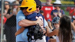 Marine Dad Surprises Kids With Umpire Disguise for Baseball Homecoming