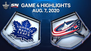 NHL Highlights   Maple Leafs vs. Blue Jackets, Game 4 - Aug 7. 2020