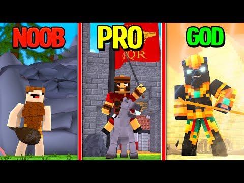 Minecraft - NOOB vs PRO vs GOD- ANCIENT WAR SIMULATOR!