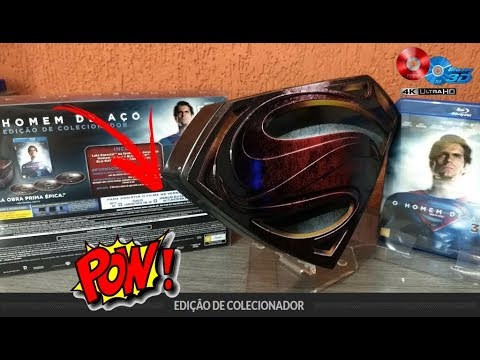 Blu Ray Homem de Aço -   [Blu-ray 2D/3D] Man of Steel  Lata Edição nacional