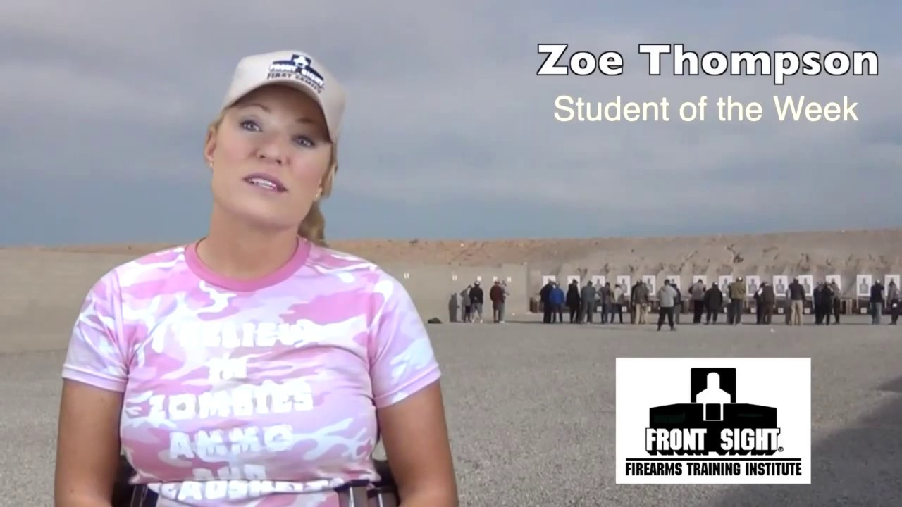 Zoe Thompson - Front Sight Student of the Week