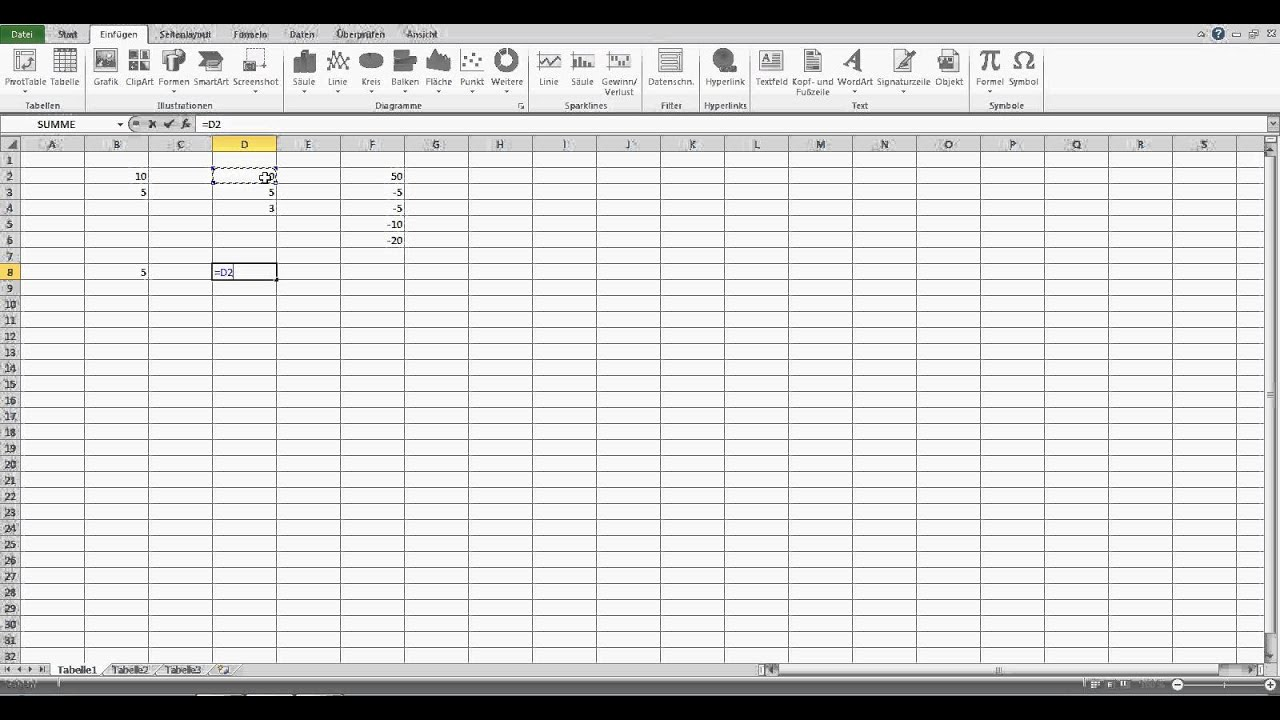 Subtrahieren in Excel - Excel Formeln - YouTube