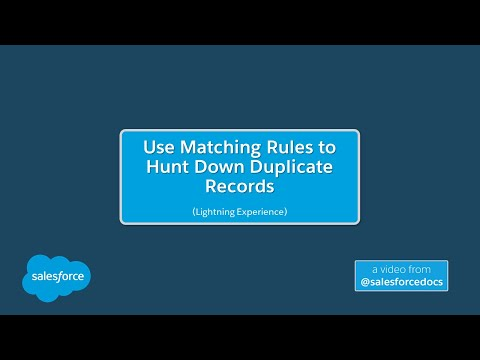 Use Matching Rules to Hunt Down Duplicate Records