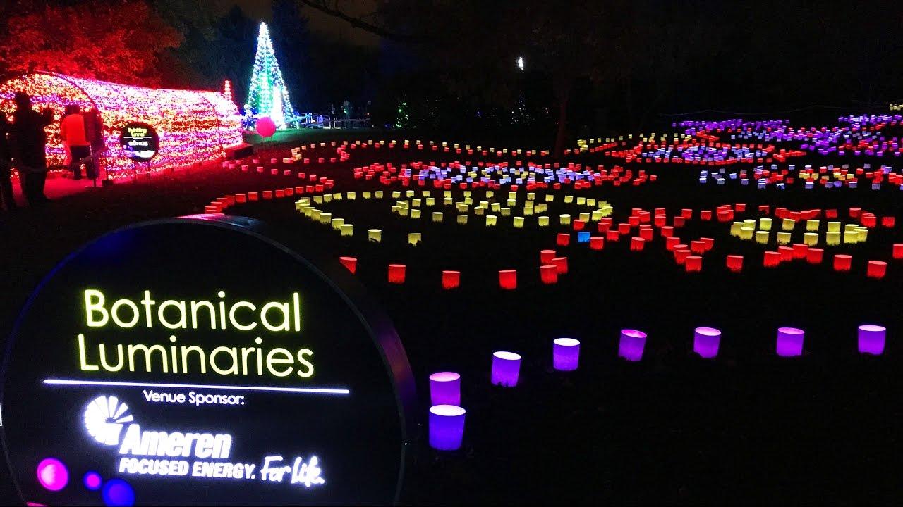 Garden Glow At The Missouri Botanical Garden Vlog Youtube
