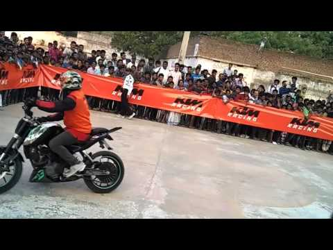 KTM Stunt Show at Pavilion Ground in Khammam
