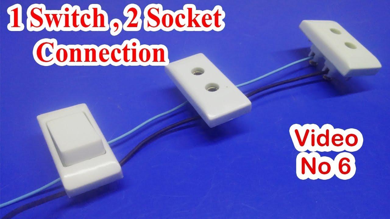 hight resolution of 1 switch 2 socket connection one switch two socket connection how2engineers h2e adeel akbar