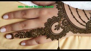 فنون الرسم بالحناء الهندية بيد مغربية غاية في الاتقان 😍 Henna art with a Moroccan touch