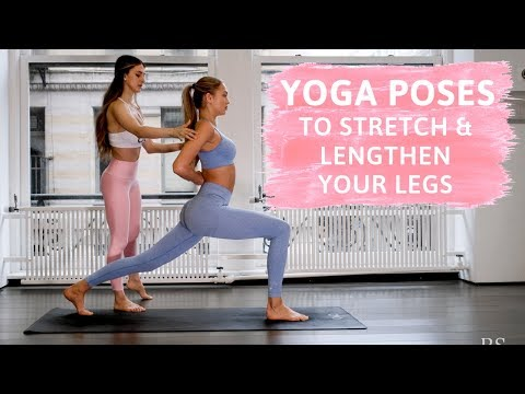 How to Stretch and Lengthen Your Legs // 13 Simple Yoga Poses - Romee Strijd